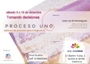 Talleres de psicoterapia integrativa-proceso Uno- con Jose Luis Gil Monteagudo