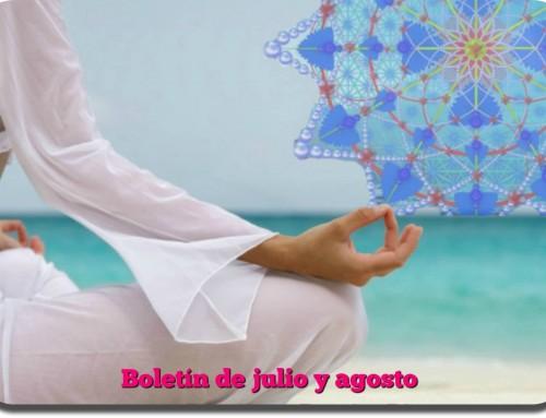 BOLETÍN DE ACTIVIDADES DE JULIO Y AGOSTO